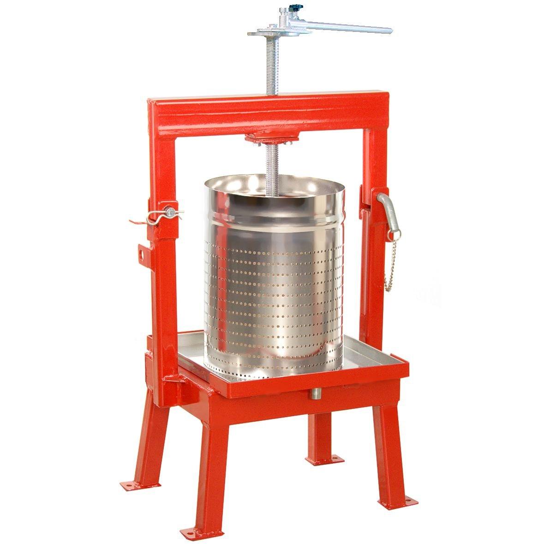 Maximizer Fruit Press 36 Liter + Stainless Basket for Cider, Wine, Apples, Grapes