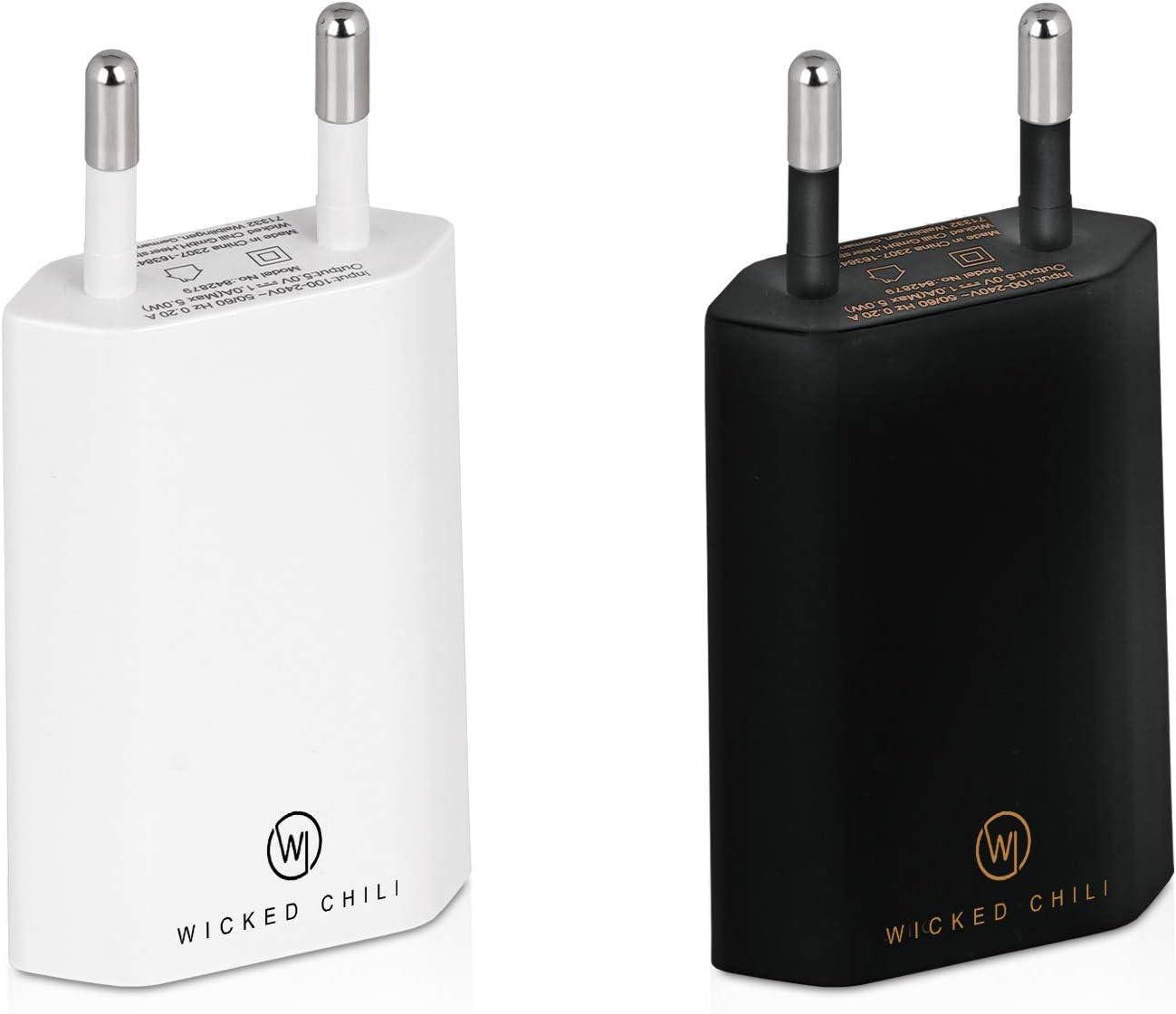 Wicked Chili 2x Pro Series Netzteil Usb Adapter Kompatibel Mit Apple Iphone Samsung Galaxy Handy Ladegerät