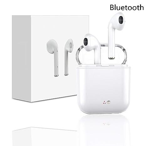Auriculares inalámbricos Bluetooth pequeños, soporte para Android IOS, emparejamiento biauricular automático, caja de