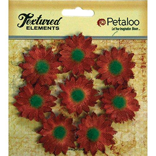 (PETALOO Textured Elements Mini Burlap/Canvas Daisies 1.25