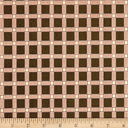 Andover Maling Road Canterbury Plaid Brown Fabric By The Yard