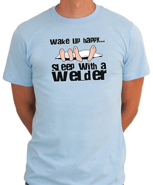 De encendido y happy para hombre de apagado con un soldador T-camiseta de manga corta: Amazon.es: Ropa y accesorios