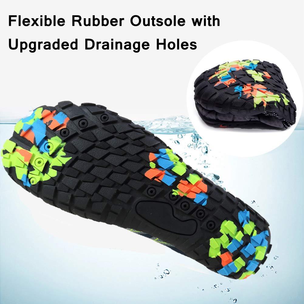 Mens Womens Water Shoes Barefoot Beach Quick-Dry Aqua Socks for Swim Surf Yoga Snorkeling Exercise