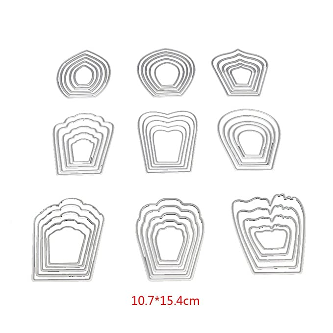 Amazon.com: Bottone Die Cuts Metal Cutting Dies Stamps Embossing Stencil Template Mould for Card Making Scrapbooking Album Paper DIY Crafts ...