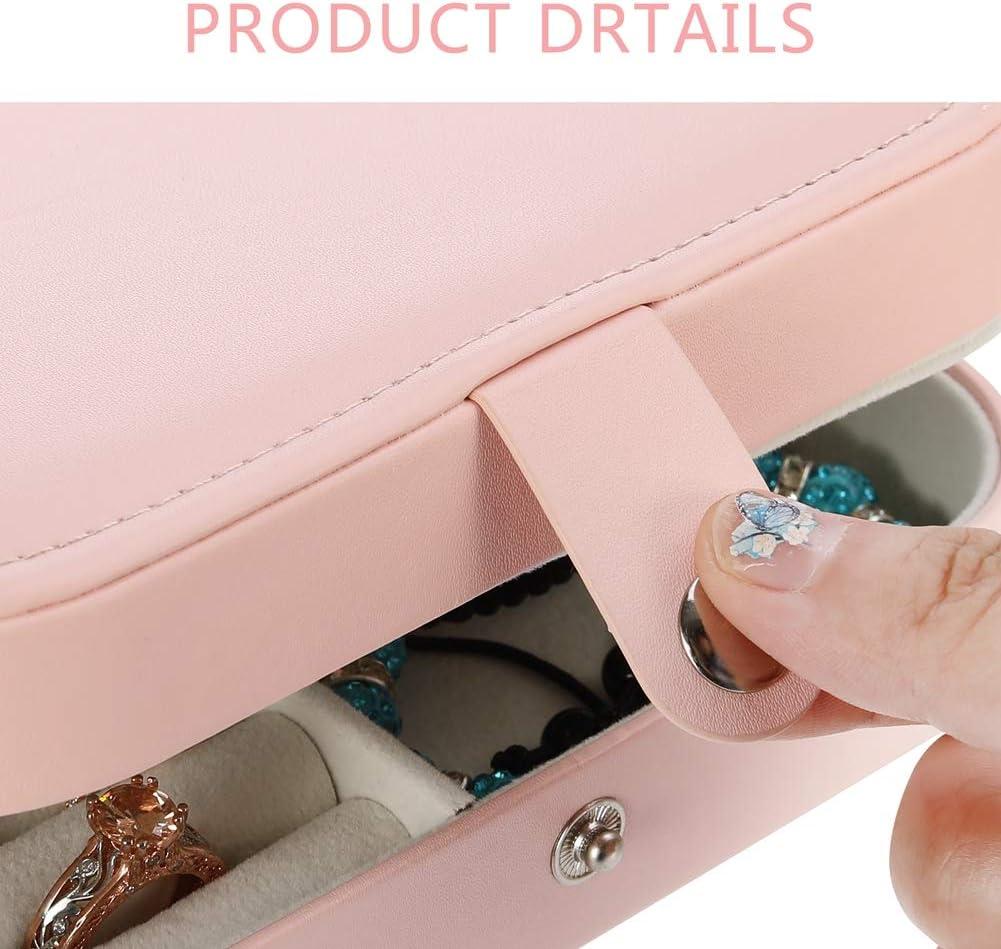 Colliers et Bracelets pour Femmes et Filles Boucles doreilles rainday Bo/îte /à Bijoux Organiseur Multicouche en Cuir PU pour Organiser bagues