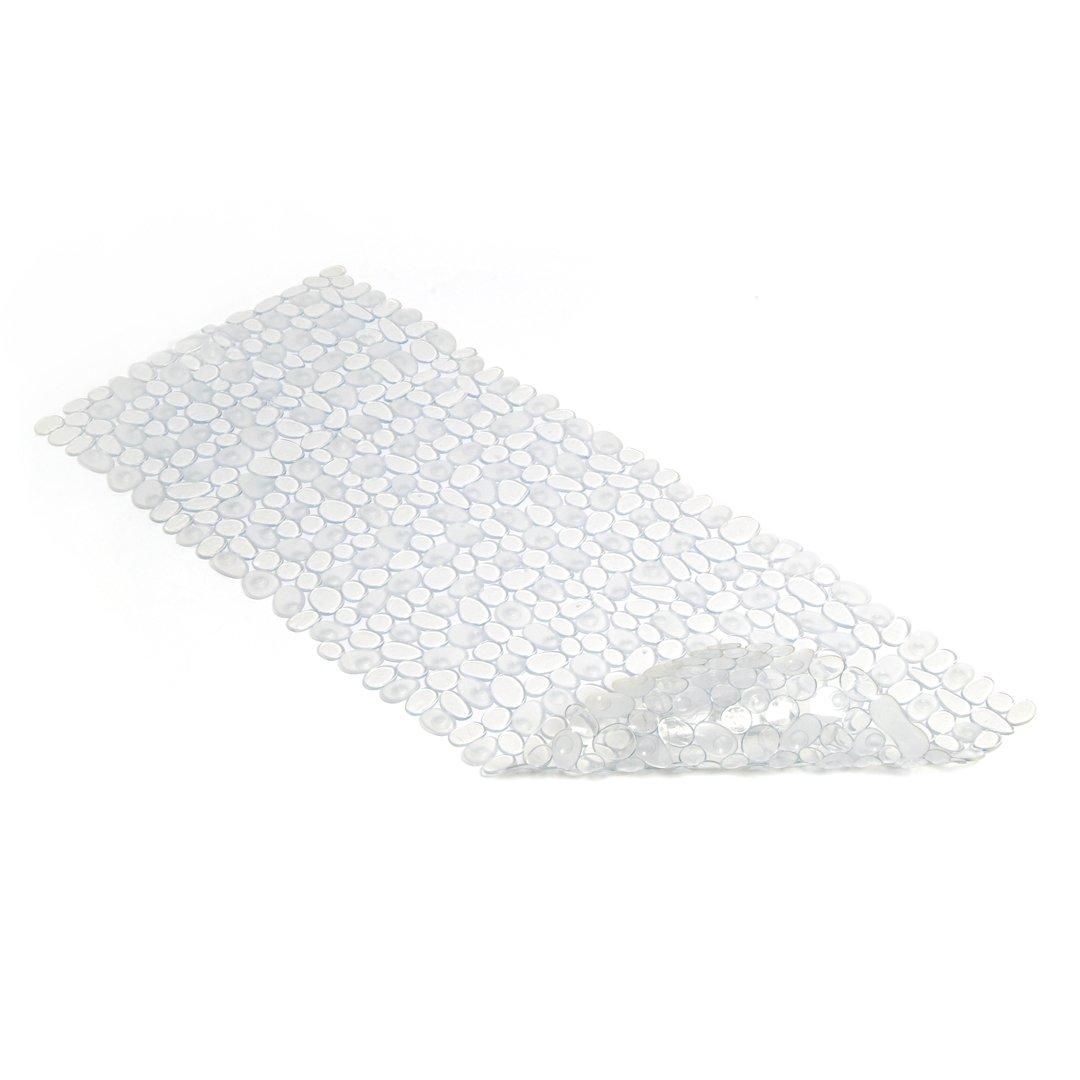 Con-Tact Brand PVC Bath Mat, Pebble Clear Kittrich Bath BMAT-C02503-04