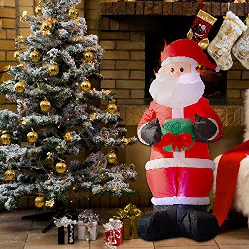 Tangkula 6ft airblown inflatable christmas xmas santa for Airblown nutcracker holiday lawn decoration