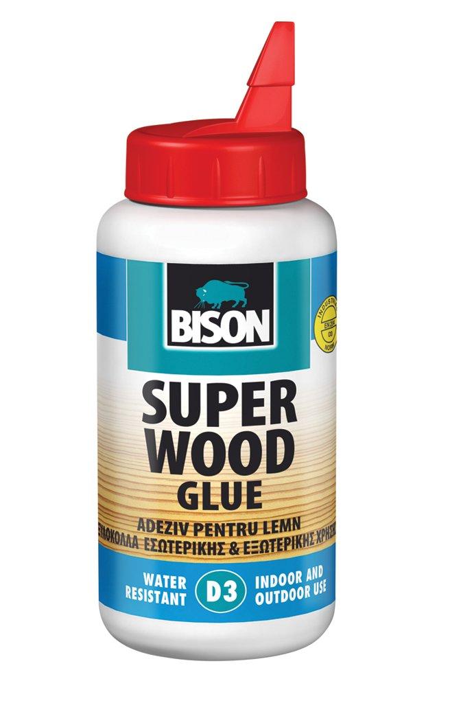 6 x 1039052 Bison D3 250g Super Interior Exterior indoor Outdoor Wood Adhesive Glue Super Strong