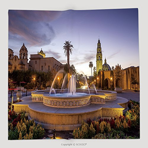 Custom San Diego S Balboa Park At Twilight In San Diego California Usa 243877948 Soft Fleece Throw Blanket (Balboa Park Halloween)