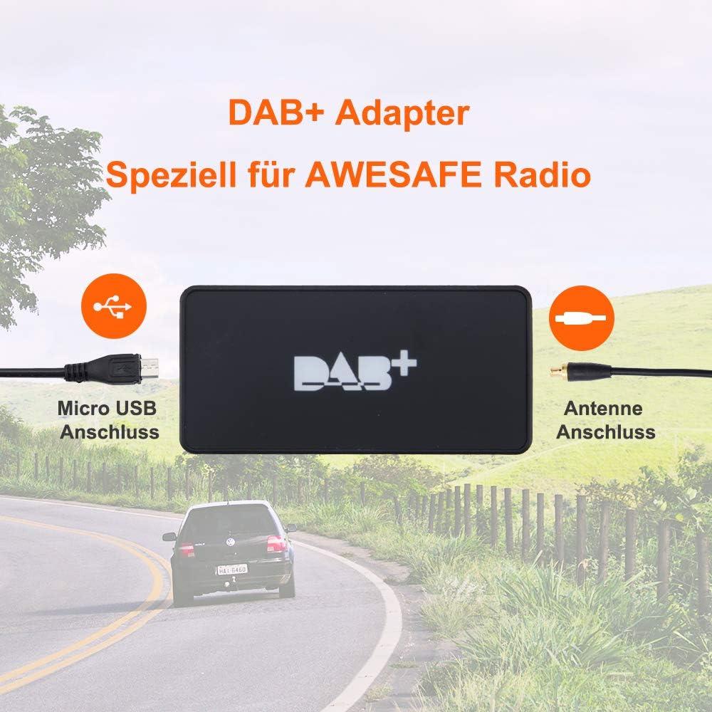 Adapter Digitalradio Antennentuner f/ür Autoradio AWESAFE Externe DAB