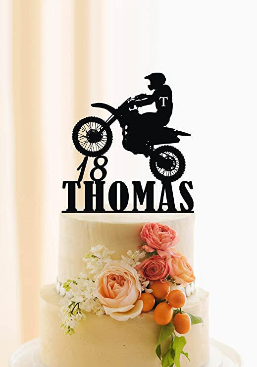 Outstanding Motorcycle Cake Topper Birthday Cake Topper Personalized Name And Personalised Birthday Cards Epsylily Jamesorg