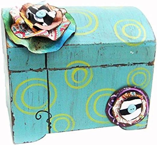 Amazon Com Desma Group Asew6215 Blue Mdf Jewelry Box Multicolor Home Kitchen