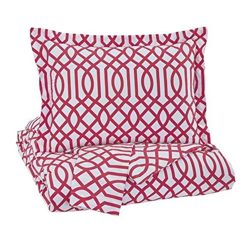 Ashley Furniture Signature Design - Loomis Comforter Set - Includes Comforter & 2 Shams - Full Size - Fuchsia