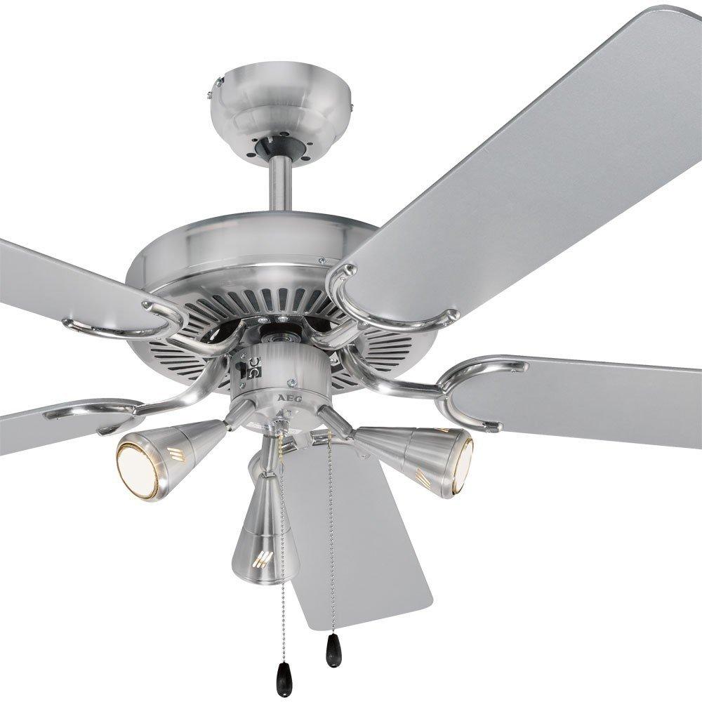 AEG LED 9 Watt Design 5-Flügel Decken Ventilator: Amazon.de: Elektronik