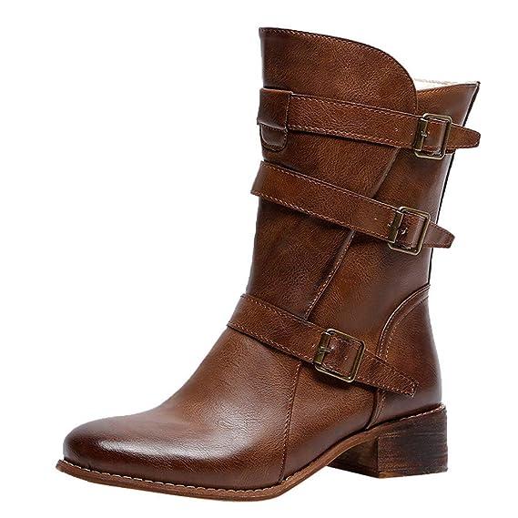 Botines Mujer Mujer Botas Zapatos de tacón Alto Botas de Las Mujeres Mantener los Botines de