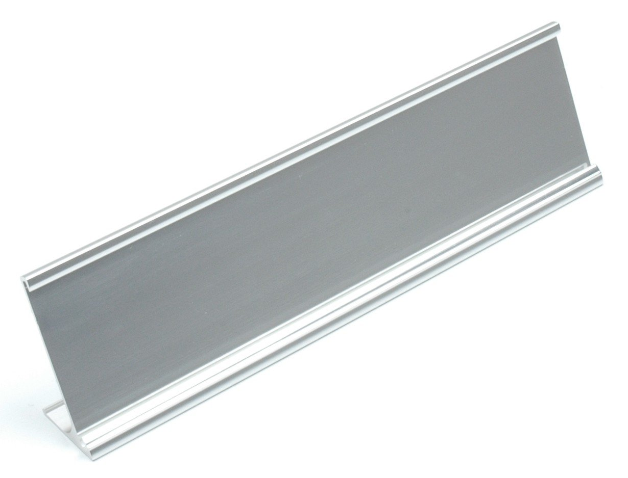 Name Plate Holders Desk Silver 2x8 - Pack of 100 - Wholesale Lot
