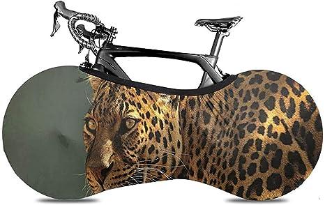 Cubierta De Rueda De Bicicleta,Cubierta De Bicicleta De Leopardo Feroz, Elegantes Cubiertas De Rueda De Bicicleta para Bicicleta Bicicleta Bicicleta De Carretera: Amazon.es: Deportes y aire libre