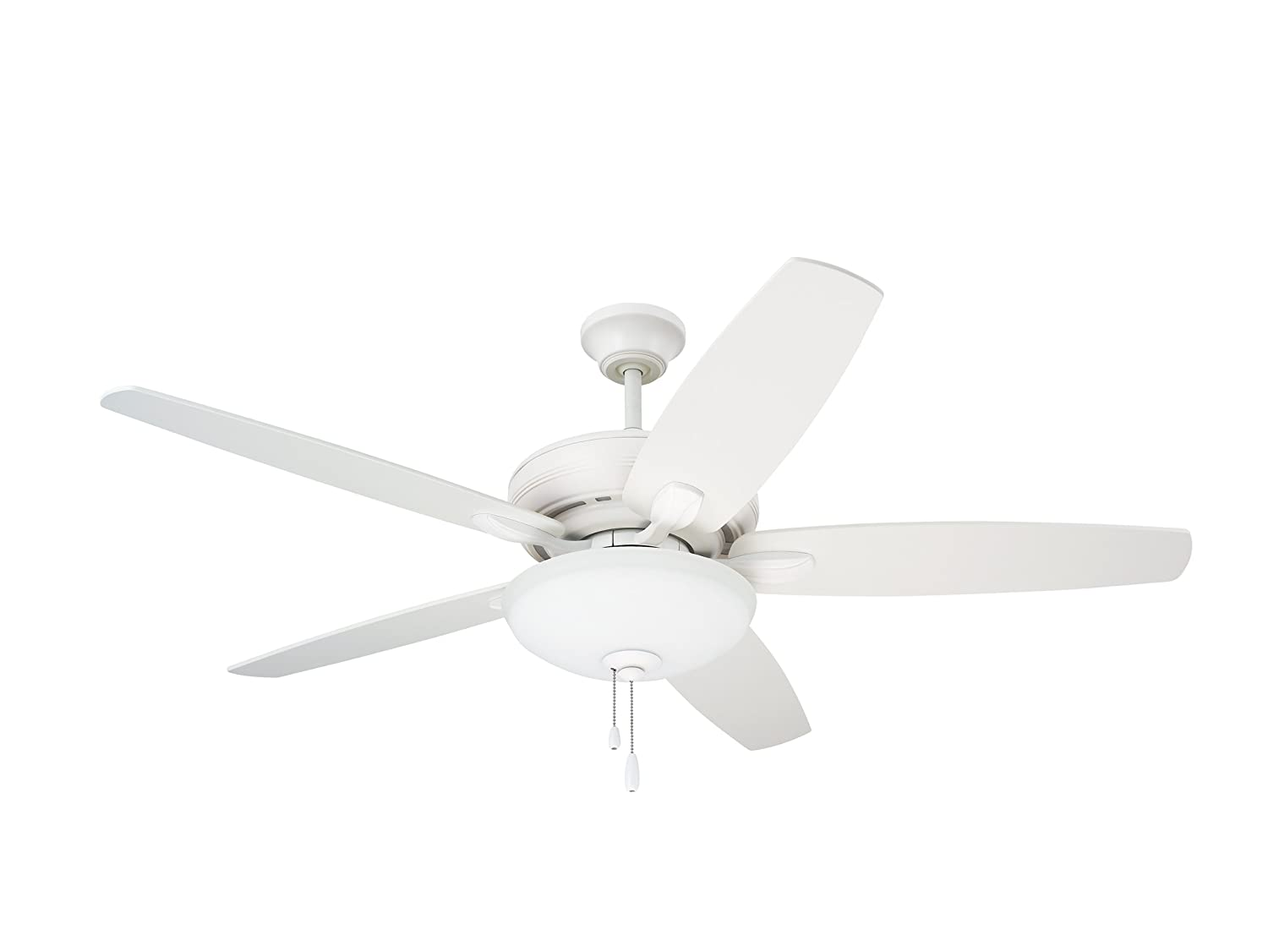 emerson ceiling fans cf717sw ashland 52inch low profile hugger ceiling fan with light satin white finish amazoncom