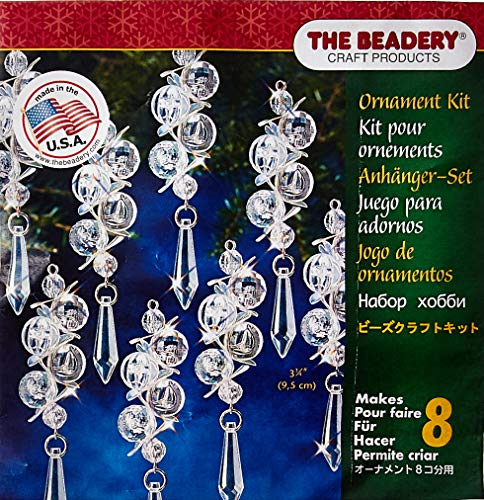 - Beadery 7445 Iridescent Bubbles Makes 8 Holiday Beaded Ornament Kit, Multicolor