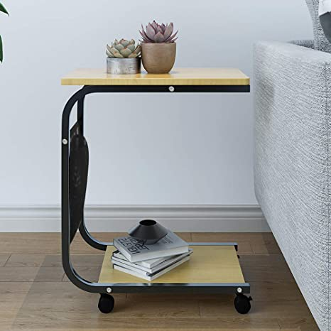 Amazon.com: HomeSailing Small Table Beside Sofa Bed Couch Table on ...