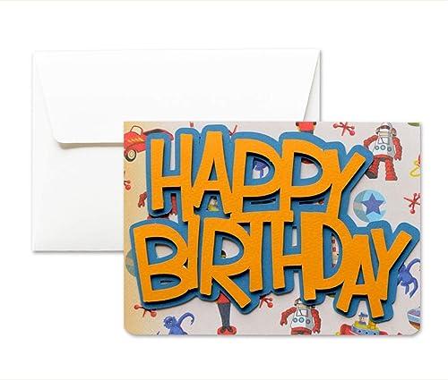 Feliz cumpleaños - vintage - tarjeta de felicitación y ...
