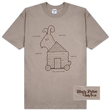 7b93eed0e Amazon.com: Monty Python and The Holy Grail Rabbit Plans Men's T ...