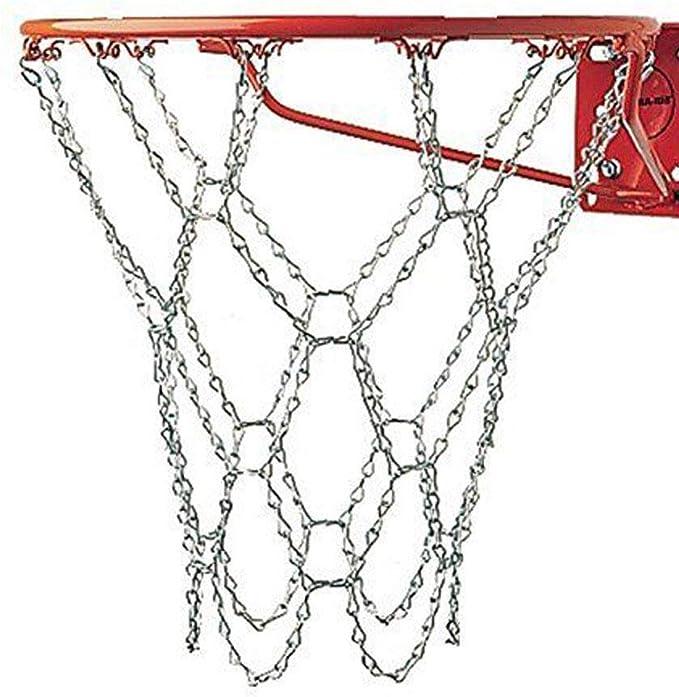 wivarra Iron Chain Basketball Net Professional Standard Heavy Duty Basketball Goal Net Replacement Basketball Net Gold Silver