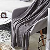 WDDH Air Conditioning Cool Throw Blankets,Cotton Muslin Breathable Summer Thin Quilt Lightweight for Couch/Sofa/Bed Gifts, for Toddler and Adults