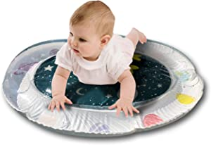 Tummy Time Mat Water Inflatable Mat for Baby, Toddler, and Infants. Colorful Play Center in Galaxy Theme with Star-Shaped Figures That Will Help Promote Children Stimulation and Growth Development