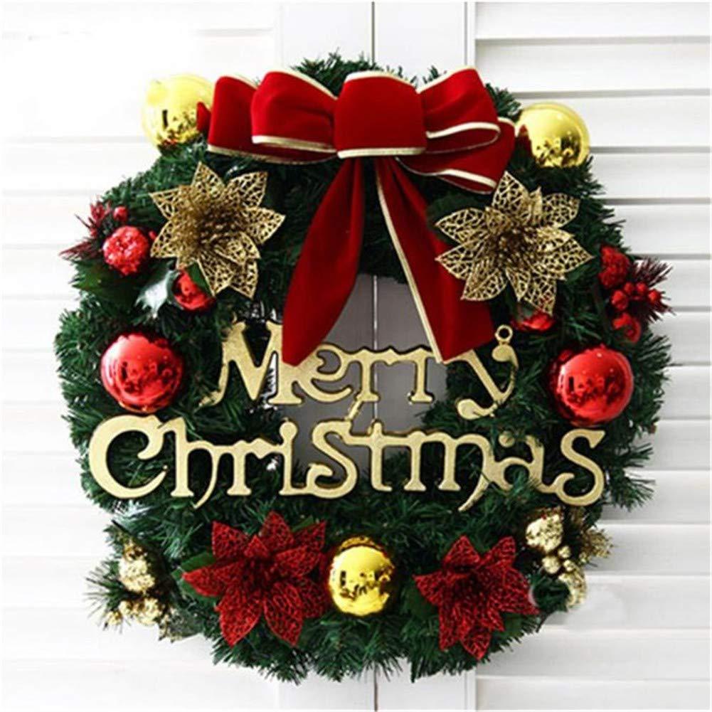 HTOP Christmas Corona de Navidad Guirnaldas Decoración para El Hogar 30Cm Puerta Grande Adorno De Pared Guirnalda Decoración Guirnalda Navidad, 30Cm: Amazon.es: Hogar