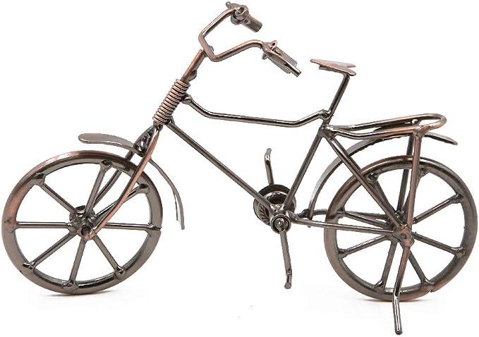 FTVOGUE Vintage Bicycle Rider Model Metal Bike Home Desktop Decor ...