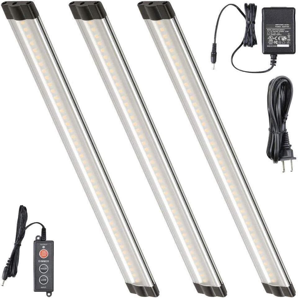 Lightkiwi T1228 12 Inch Warm White Modular LED Under Cabinet Lighting – Premium Kit 3 Panels