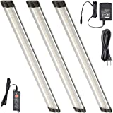 Lightkiwi T1228 12 Inch Warm White Modular LED Under Cabinet Lighting - Premium Kit (3 Panels)