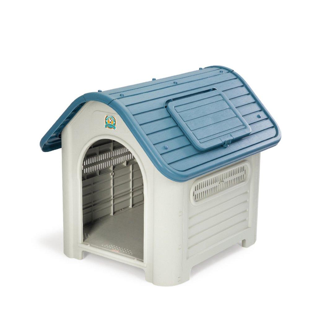 単一のドア犬小屋,洗える防水ペット ベッド プラスチック冬大型犬 dograte 屋外犬の家ペット サークル犬ペット ベビー サークル -青 85x70x75cm(33x28x30inch) B07CVTKV69 17455  青 85x70x75cm(33x28x30inch)