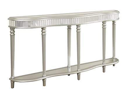Coast To Coast Mirrored Console Table   Silver
