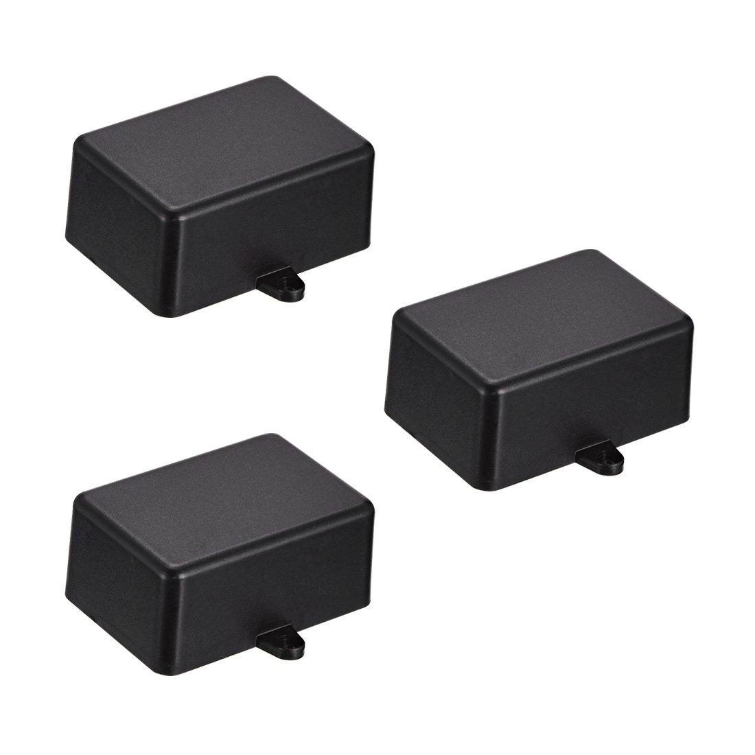 uxcell 8Pcs 58 x 35 x 15mm Electronic Plastic DIY Junction Box Enclosure Case Black a18051400ux0090