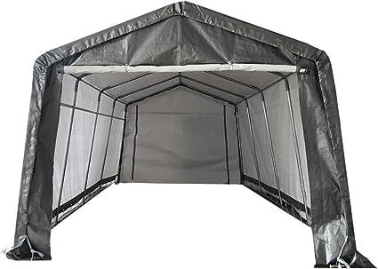 10 x 20 ft Waterproof Outdoor Car Shelter Roll Up Sidewalls Portable Garage Tent
