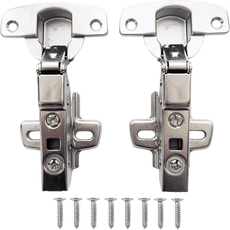 Hettich Sensys 8645i TH52 110 Grado Semisolapado Bisagras 9071206 Automática con Amortiguación Integrada Mecanismo de Cierre Automático para Puerta Mueble Armario de Cocina Juego de 2