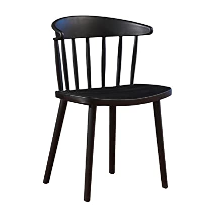 HZB Modern Minimalist Dining Chair, Plastic Chair, Nordic Leisure Chair,  Coffee Milk Tea