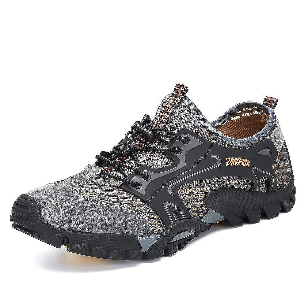 Flarut Sandalias Deportivas Trekking Hombres Verano Pescador Playa Zapatos Casuales Transpirable Zapatilla de Senderismo Deportes Montaña y Asfalto Zapatos para Correr Malla