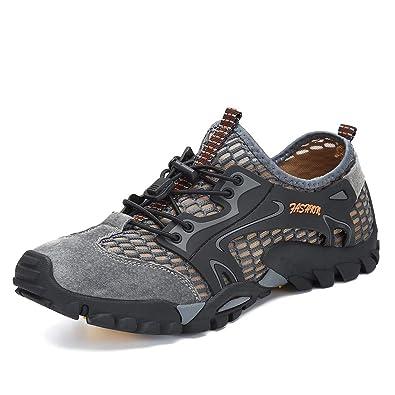 Flarut Sandalias Deportivas Trekking Hombres Verano Pescador Playa Zapatos Casuales Transpirable Zapatilla de Senderismo Deportes Montaña