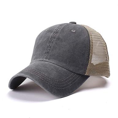 GXPXXP Gorras De Béisbol Desgastadas Algodón Sombreros De Malla De ...
