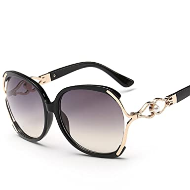 e09cad5503 Image Unavailable. Image not available for. Color  Oversized Sunglasses For Women  Retro Pearl Shades Star ...
