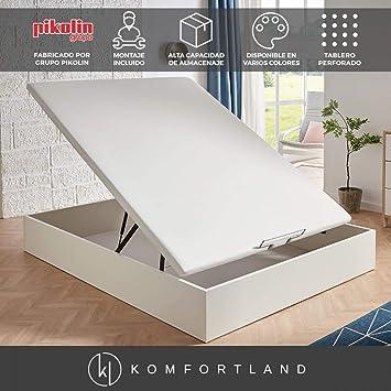 Canapé abatible MagicBox Medida 135x190 cm Color Blanco (montaje incluido)
