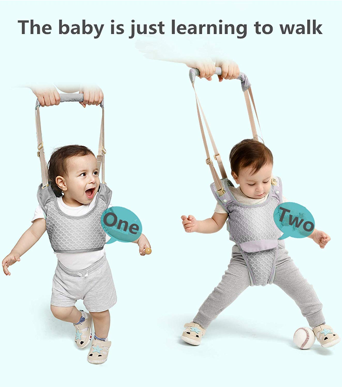 Kids Toddler Walking Keeper Baby Walker Baby Adjustable Walking Learning Harness Walking Belt Walking Assistant Great Gift for 8-24 Months Baby Grey