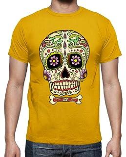 latostadora - Camiseta Calavera Mexicana Real para Hombre: Adrian Filmore: Amazon.es: Ropa y accesorios