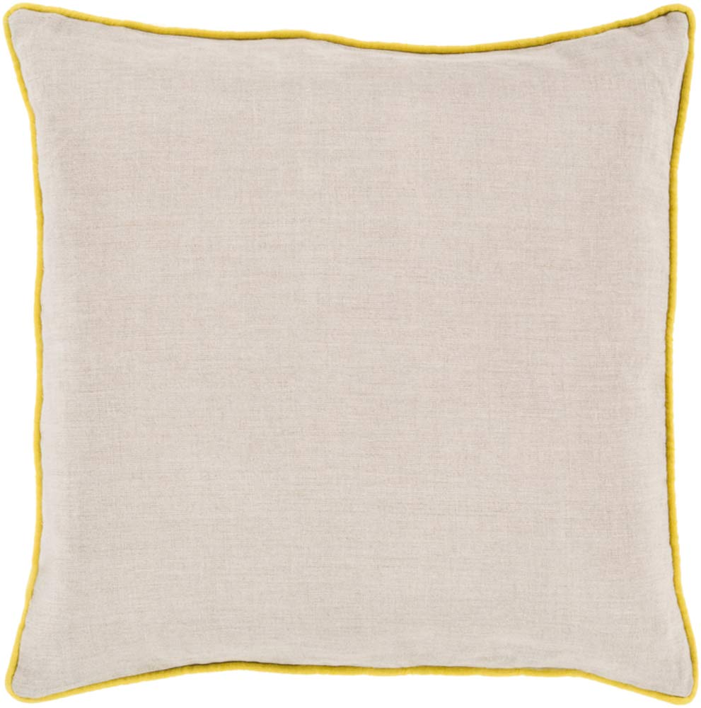 Solid & Border Pillow Cover Only Square 20'' x 20'' WL-067541-S