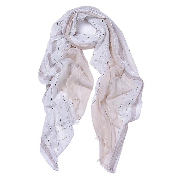 756562c184580 Scarf for Women Lightweight Fashion Spring Winter Coloured Beach Scarves  Soft Shawl Wraps (Beige)