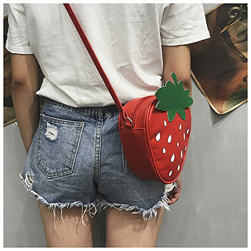 Waist Crossbody Casual Fashion Women Bag Cute body Single Cartoon Bags TUDUZ Shoulder Phone Purses Red Shoulder Fruit Bags Cross Messenger Bag Bag Coin wxU8Oqgx