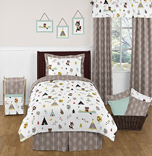Sweet JoJo Designs 3-Piece Twin Sheet Set for Outdoor Adventure Bedding Collection